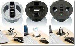 In-desk USB