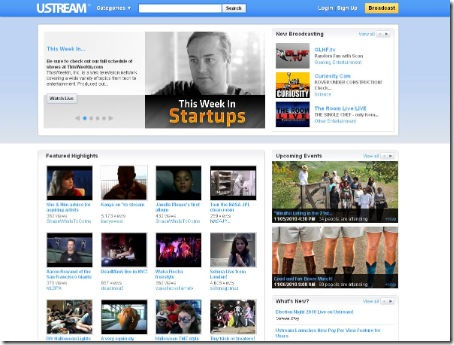 Cinco sites para fazer streaming de vídeo ao vivo